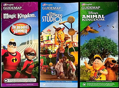 NEW 2018 Walt Disney World Theme Park Guide Maps Brochures 3 Different Ones!!!