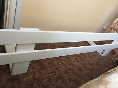 Ikea White Toddler Bed Guard Rail (1200mm)