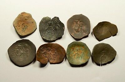 Lot Of 8 Ancient Byzantine Cup Coins - 018