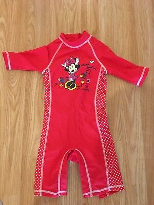 Girls Minnie Mouse Swimsuit 12-18 Months