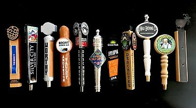Lot Of 11 Beer Tap Handles. Green Flash, Deschutes, Pike, Boont, More!