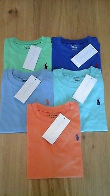 POLO RALPH LAUREN BABY BOY COTTON PONY SHORT SLEEVE TEES ages 12-24 months BNWT