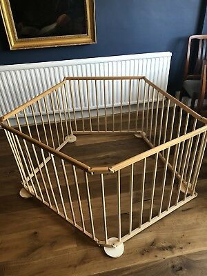 Baby Playpen. Wooden And Foldable