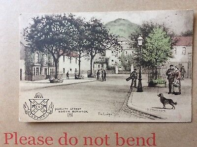 Quality Street North Berwick The Lodge, R P Phillimore 156 Postcard. 87473