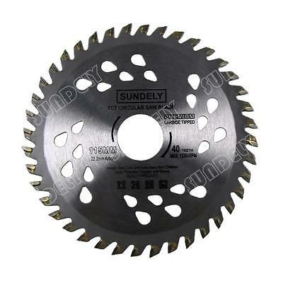 UK NEW! 115mm Angle Grinder saw blade for wood and plastic 40 TCT Teeth