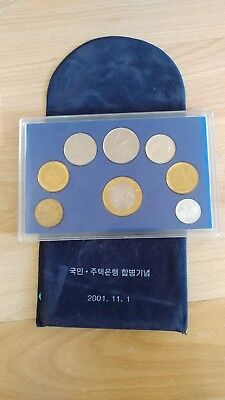 2001 Bank of Korea 6 Pc Mint Set