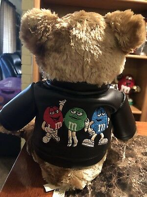 M&M Collectibles 1 Teddy Bears Blue LeatgerJacket Mint