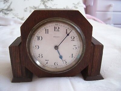 Vintage French Oak  8 Day Mantle Clock In Working Order