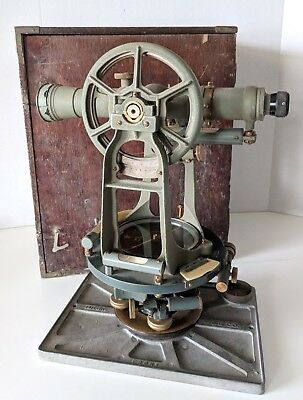 1960s Keuffel & Esser Paragon Surveying Transit Level Compass K E Box Theodolite