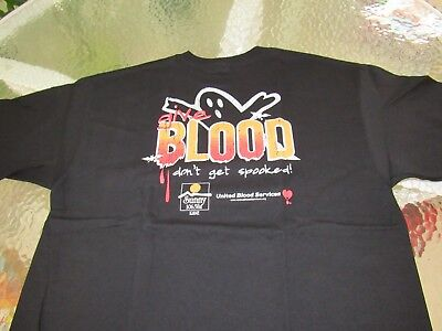 """Suncoast collectable Black United Blood Donation """"T"""" Shirt Size EL"""