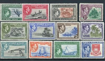 Gilbert & Ellice Islands 1939-55 set SG43/54 MLH/MM