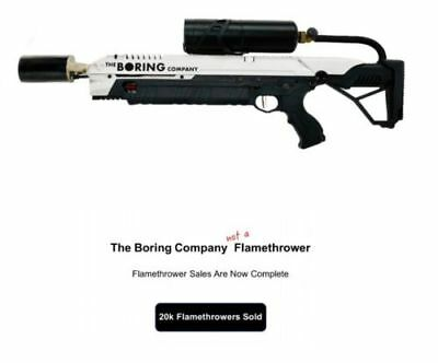 The Boring Company Not A Flamethrower: MANUAL + all box contents *NEW UNOPENED*