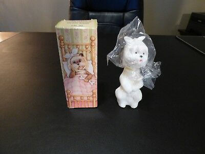 NIB Vintage Avon Sweet Tooth Terrier Figurine Topaze Cologne Full Bottle 1 OZ.