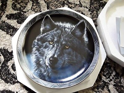 Bradford Exchange Moon Shadows..... First Issue... Mystic Spirit Plate With Coa