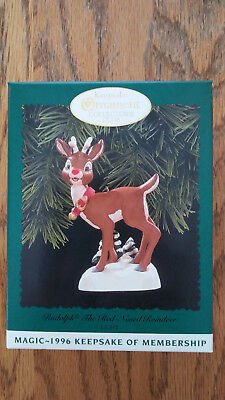 "Hallmark 1996 Rudolph The Red Nosed Reindeer KOC ""Magic"""