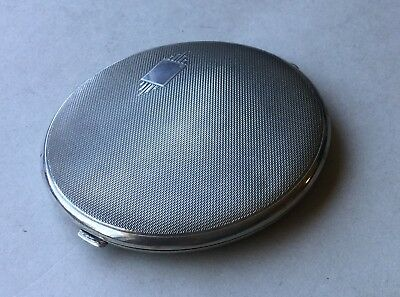 Vintage Solid Silver Compact Case - Hallmarked 1941 - Very Nice Item