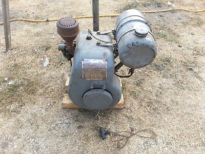 old vintage BSA power unit engine runs