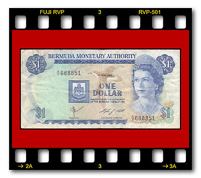 BERMUDA MONETARY AUTHORITY P-28b ONE DOLLAR L. 1984 Queen Elizabeth II