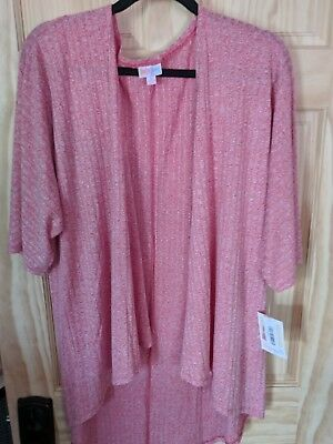Lularoe  Small Heathered Red Pink. Linsay Kimono Duster Cardigan.  NWT  $2 ship!