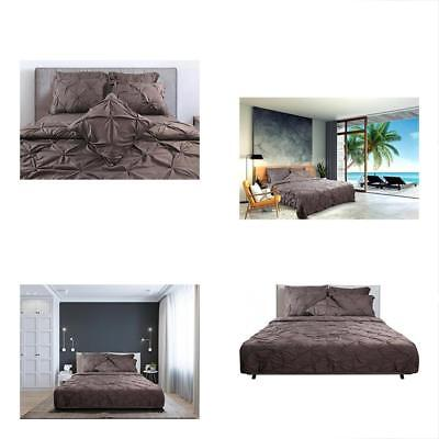 7 Piece Pintuck Bedding Set Queen - Brushed Microfiber Elegant And Modern With