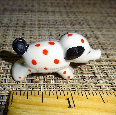 Vintage 1950's DOLL HOUSE Miniature Lampwork Blown Glass PIG Signed Germany