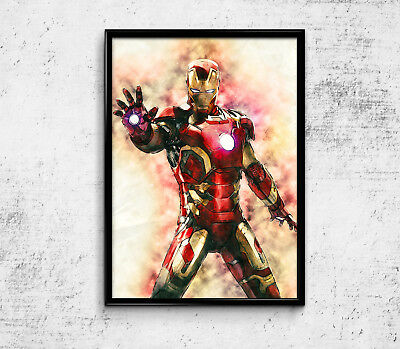 "Iron Man Avengers Poster Movie Art Marvel Print Heroes Wall Decor 24x36/"" D31"