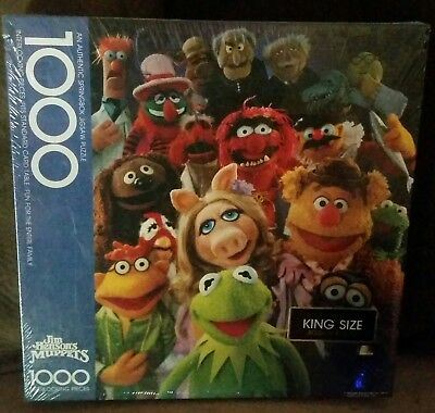 NEW SPRINGBOK Puzzle Factory Sealed In Plastic Vtg JIm Henson MUPPETS 1000 Pc