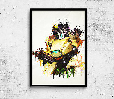 """Bastion Overwatch Poster Game Print 33x47"""" Video Gamer Room Decor Wall Art Gift"""