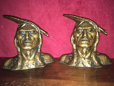 Taylor & Doe  Solid Bronze Native American Bookends