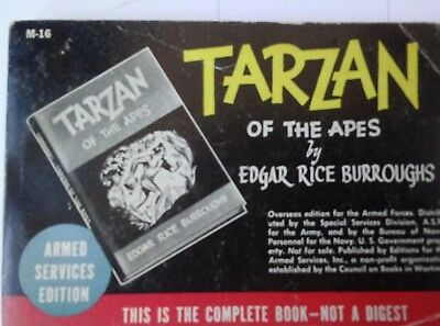 1940 TARZAN OF THE APES Armed Services Edition Edgar Rice Burroughs RARE M16