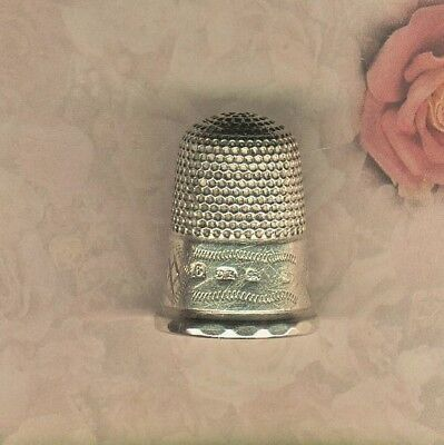 Charles Horner English Sterling Silver Thimble w/ Faceted Rim
