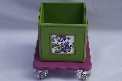 MacKenzie Childs Flower Market Note Caddy without Notepad New