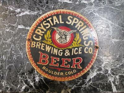 crystal springs colorado sign brewery sign beer sign porcelain door push sign