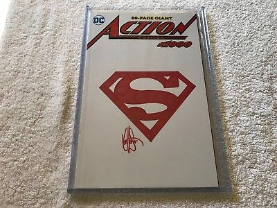 ACTION COMICS #1000 Ken Haeser Signed Sketch limited with Certificate