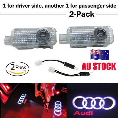 2X LED Logo Light Shadow Projector Car Door Courtesy Laser Light For New Audi