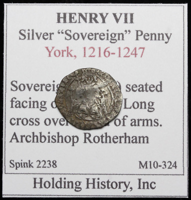 ENGLAND. Henry VII Hammered Silver Penny, Sovereign Type
