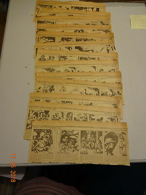 Tarzan And The Elephant Men 1938  Original Newspaper Strips  Rare!