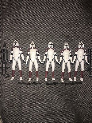 Star Wars Clone Wars Clone Trooper Space Gear Lot Wolfpack