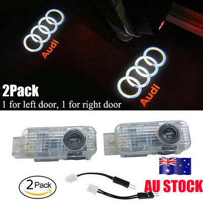 2X Car Door Courtesy Laser Projector Logo Ghost Shadow Light Bulb For New Audi