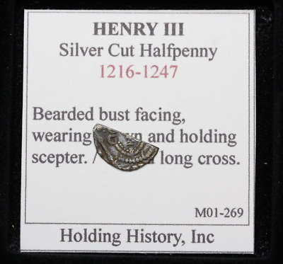 ENGLAND. Henry III Hammered Silver Cut Half Penny, Voided Long Cross