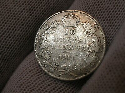 1911 Canadian Ten Cent Silver
