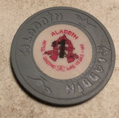 Aladdin $1 Casino Chip Las Vegas Nevada 2.99 Shipping