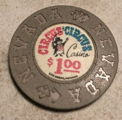 Circus Circus $1 Casino Chip Las Vegas Nevada 2.99 Shipping
