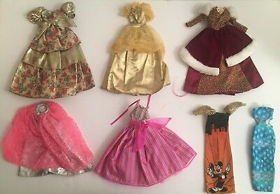 Vintage 1980's - 2000's Lot of Barbie Doll Clothing Clothes Dresses