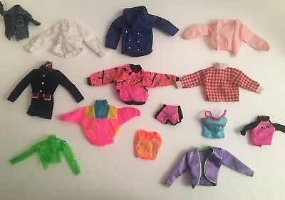 Vintage 1980's - 2000's Lot of Barbie Doll Clothing Clothes Shirts, Jackets ++