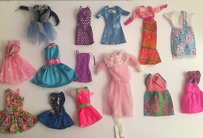 Vintage 1980's - 2000's Lot of Barbie Doll Clothing Clothes Dresses ++