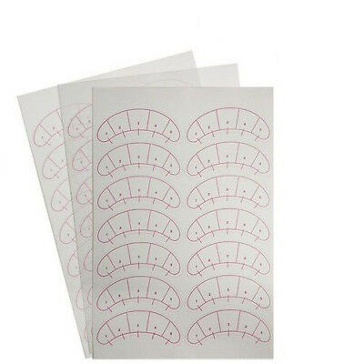 Eyelash Extension MAP STICKERS Under Eye Training Guides