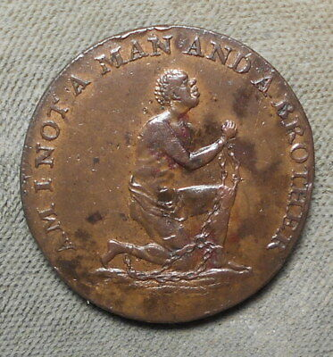 Great Britain ND 1/2d Middlesex-1038b Slave In Chains Am I Not A Man & A Brother