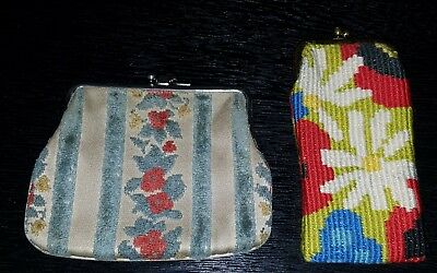 Lot of 2 Antique Victorian Coin Purses