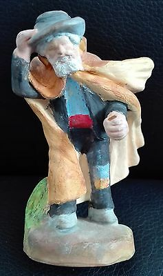 France Paul Fouque Aix En Provence Coup De Mistral Ceramic Figurine 3.3""